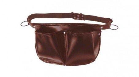 Tablier de charpentier cuir avec ceinture, 2 poches, 2 anneaux