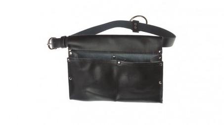 Tablier de coffreur cuir avec ceinture, 2 poches, 1 anneau