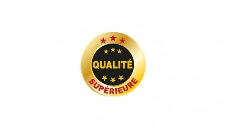 Truelle Reims inox 160 mm, manche bimatière - Logo QS Francais