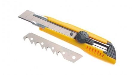 Cutter standard 18 mm, 2 lames droites à casser/1 lame à crochet à casser, verro