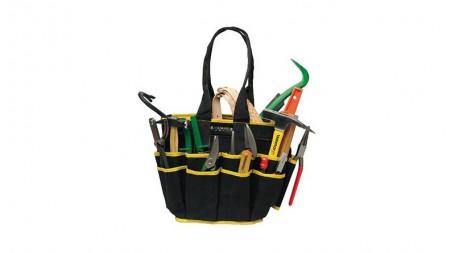 Sac à outils en tissu renforcé avec 16 poches, livré sans outils