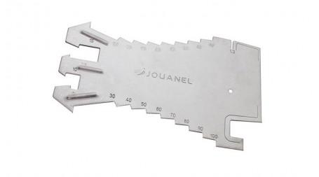 Tracette à zinc en acier inoxydable, graduation par 5 mm, jauges pour profil