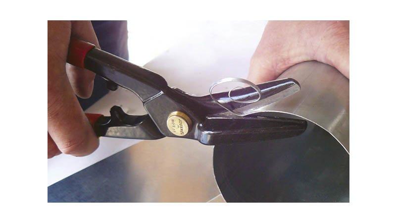 Cisaille bichantourneuse à gauche QS, 270 mm, avec ressort - action