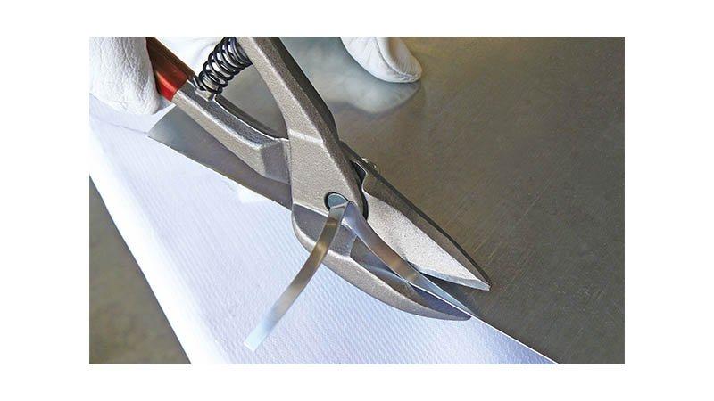 Cisaille bichantourneuse, coupe à droite  280 mm - action
