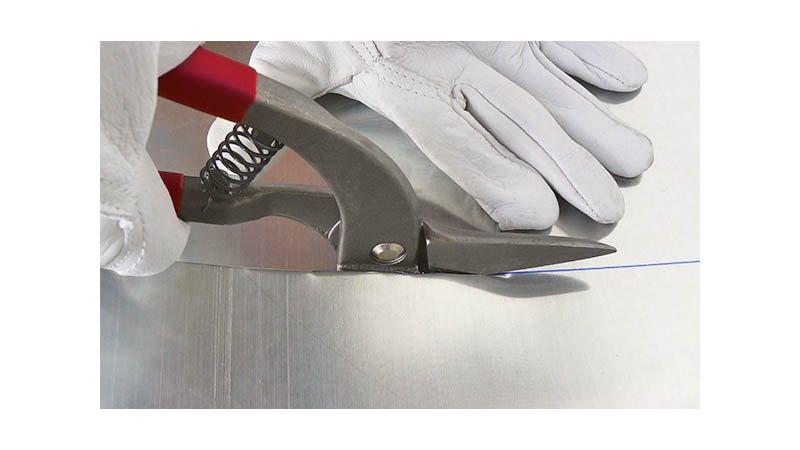 Cisaille pélican coupe à droite avec ressort, 300 mm - action