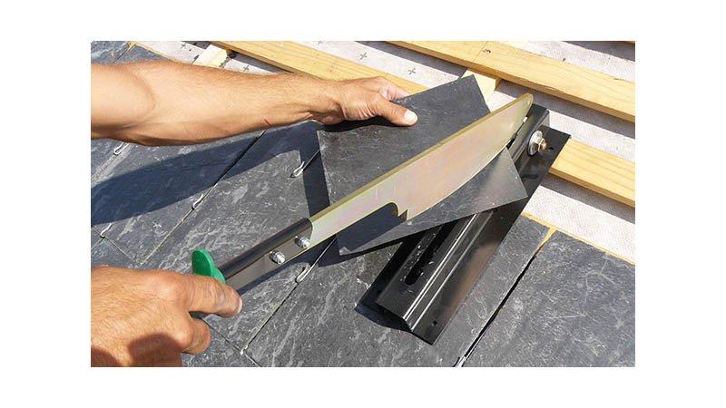 Cisaille guillotine pour ardoise naturelle, longueur de coupe 220 mm, capacité 6 - action2