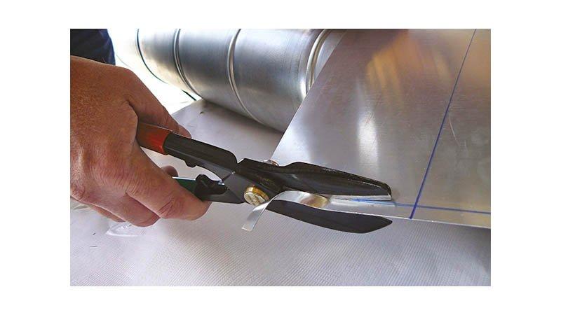 Cisaille universelle droite 1 lame étroite et 1 lame large, 270 mm, avec ressort - action