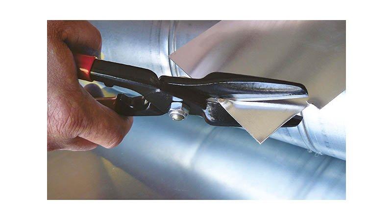 Cisaille universelle droite, 2 lames étroites QS, 310 mm, avec ressort - action