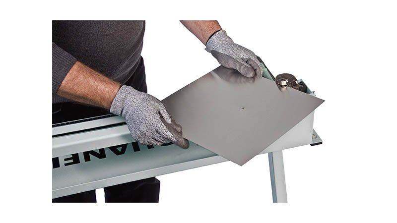 Découpe collerette élec - rayon 45 à 500 mm - acier 1,5 mm, livrée sans pied. - Action1 disque decoupe