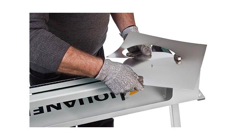Découpe collerette élec - rayon 45 à 500 mm - acier 1,5 mm, livrée sans pied. - Action3 disque decoupe