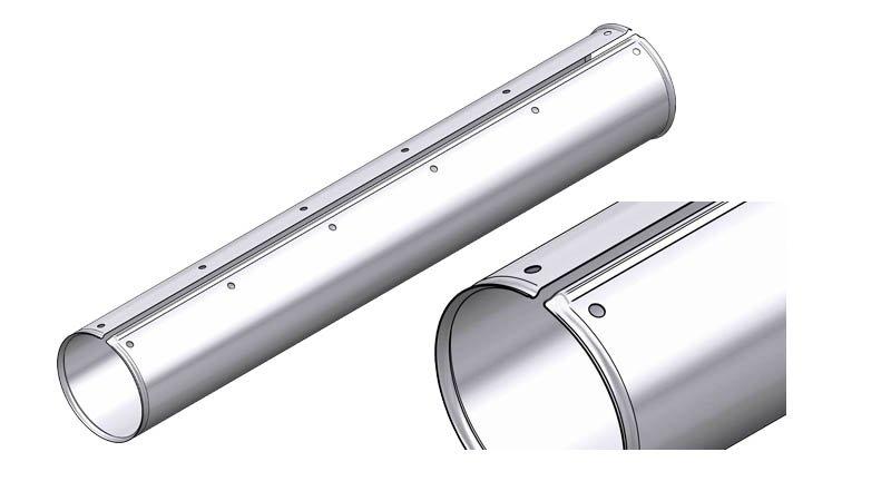 Ligne Calo - larg 1000 - 1 nervure - acier 1mm - (molettes V6 en standard) - Zoom Rouleau