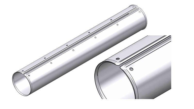 Ligne calo - larg1000 -2nervures décambrage-poinconnage coupe/capacite 1mm acier - Zoom rouleau