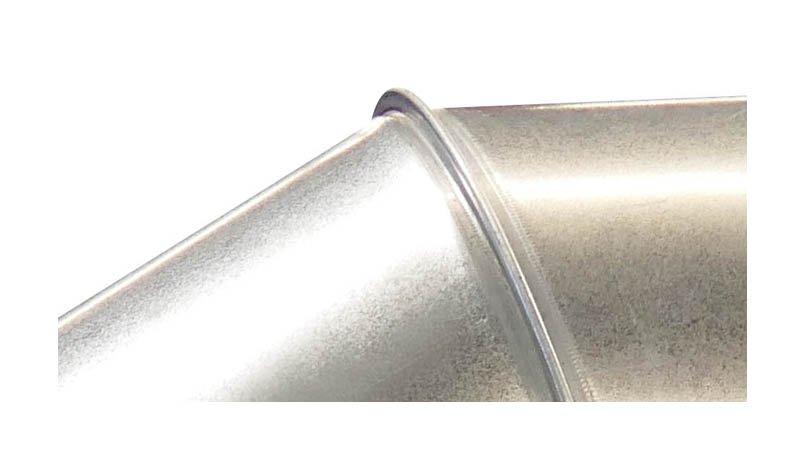 Machine à border et sertir les segments de coude Ø maxi 1250x1,2 mm - Detail sertissage coude