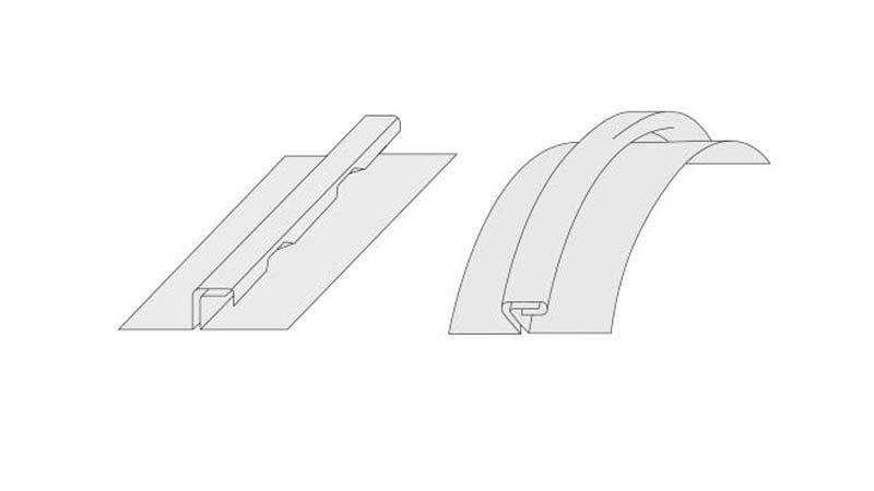 Pince à former le 1er pli petit modèle, largeur 70 mm - Schemas plis