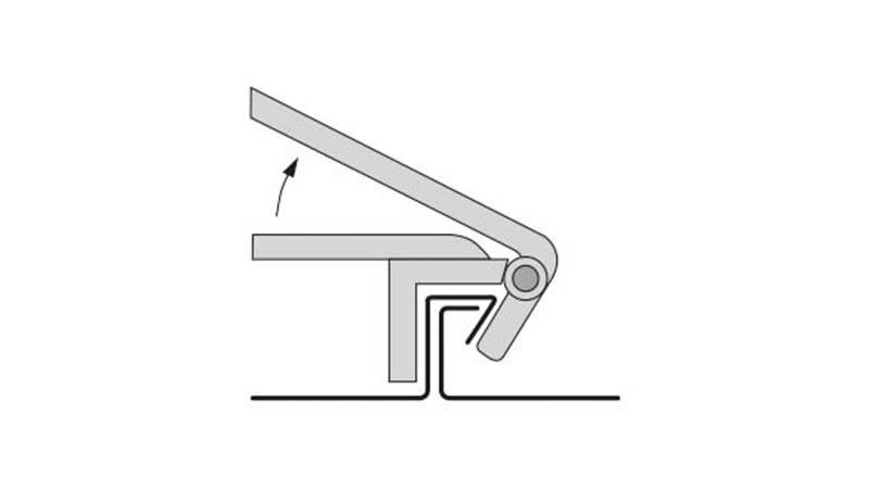 Pince RAU à fermer le 1er pli, largeur 220 mm - Schema1