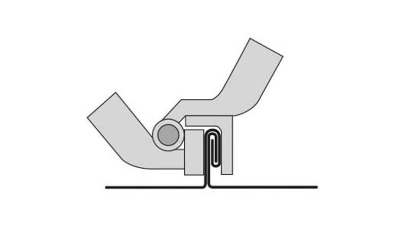Pince RAU à fermer le 2ème pli, largeur 220 mm - Schema2