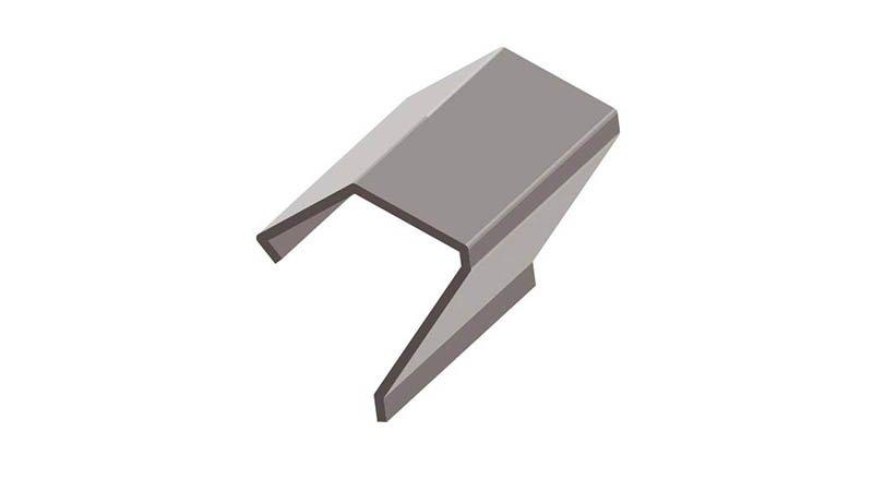 Profileuse clip pour cadre PDF - PDF1 - TDC - TDF, acier - galva 0,8 - 1,2 mm - Profil realise
