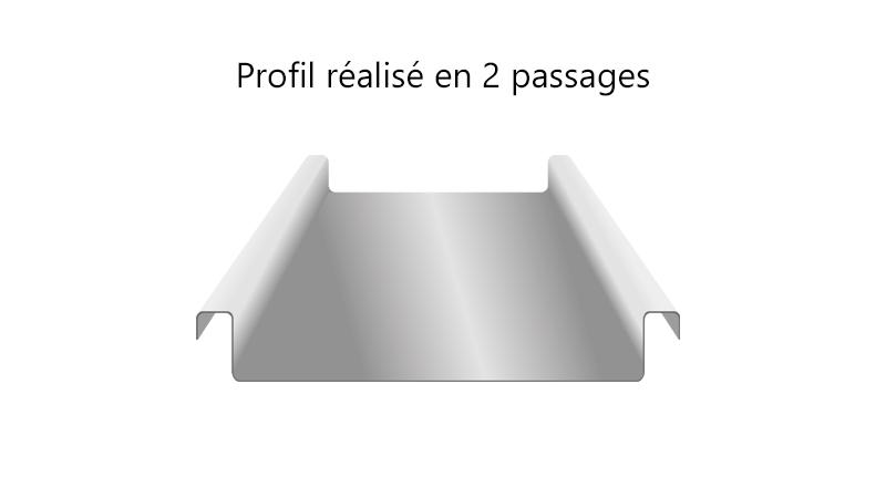 Profileuse électrique légère pour joint debout - realisation5