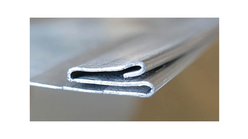 Profileuse Snaplock,capacité 1mm acier, - Profil Snaplock femelle