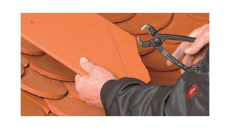 Tenaille à tuile grugeoire 250 mm - action
